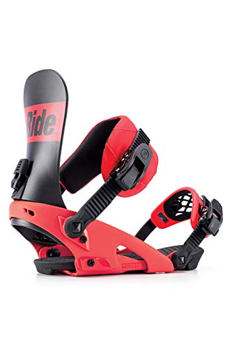 Ride Mens Ex Snowboard Bindings, Red, XL