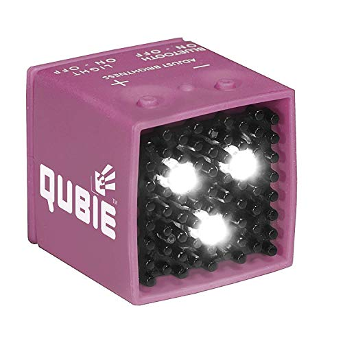 QUBIE - Bluetooth LED Light (Pink) for photography and lighting