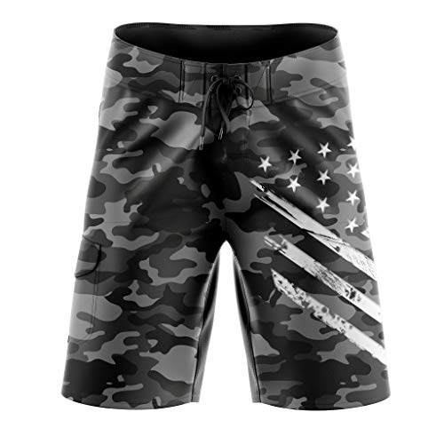 Tactical Pro Supply Camo American Flag Board Shorts - 32