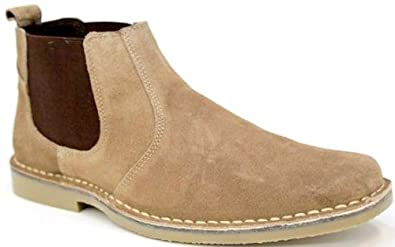 Amazon.com | Roamers Mens M765 Taupe Suede New Mens Desert Boots ...