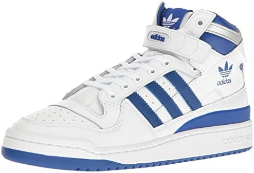 Men Cheapest adidas Forum Mid Refined Shoes White Silver