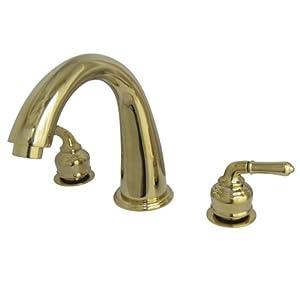 Kingston Brass KS2362 Naples Roman Tub Filler with High Rise Spout, Polished Brass