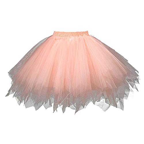 Halloween Mama Fancy Jupes Rétro Stadt Orange45cm Tulle Dress Danse Cosplay Femme Carnaval De Tutu Ballet Jupon 34qRL5Aj