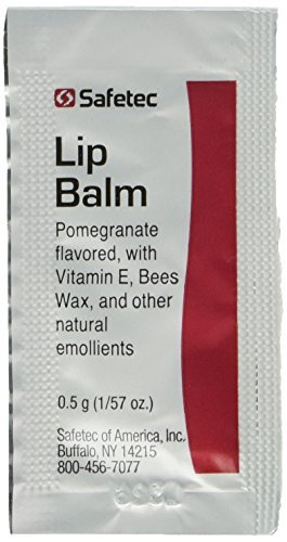 Safetec Lip Balm Pomegranate Flavored - 144 packets/box (0.5 gram - Skin Care Single Packet Use