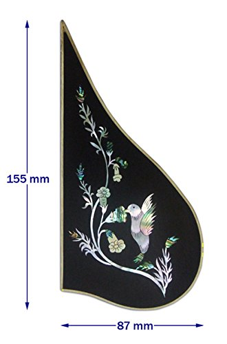 (Bruce Wei Mandolin Part-Rosewood Pickguard w/MOP Art Inlay (163))