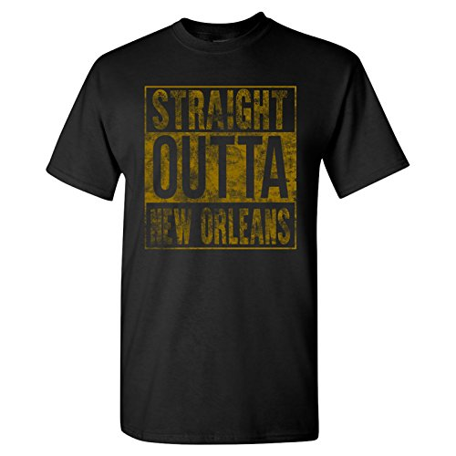 Straight Outta New Orleans T-Shirt - 2X-Large - Black