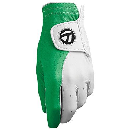 UPC 888167351896, TaylorMade Tour Preferred Vivid Gloves, White/Kelly, Medium/Large, Left Hand