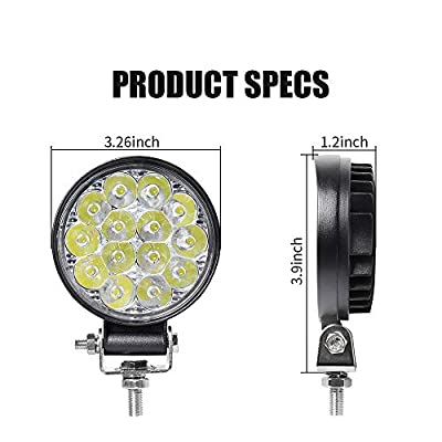Exzeit Waterproof Led Work Lights Led Fog Lights for Truck, 60° Flood Backup Lights Offroad Lights, 3.3 inch 12/24v Headlight for Truck Tractor ATV UTV: Automotive