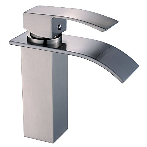 (Yodel Single Handle Waterfall Bathroom Vanity Sink Faucet (Brushed Nickel))