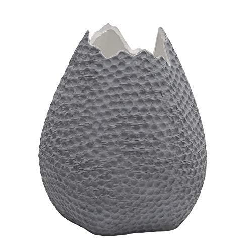 Eclante OVO Ceramic Decorative Vase Gray Color | 6.25
