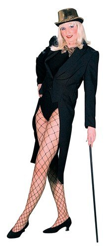 [Black Tailcoat Female Fancy Dress Costume (US 8-10)] (Womens Tailcoat Costume)