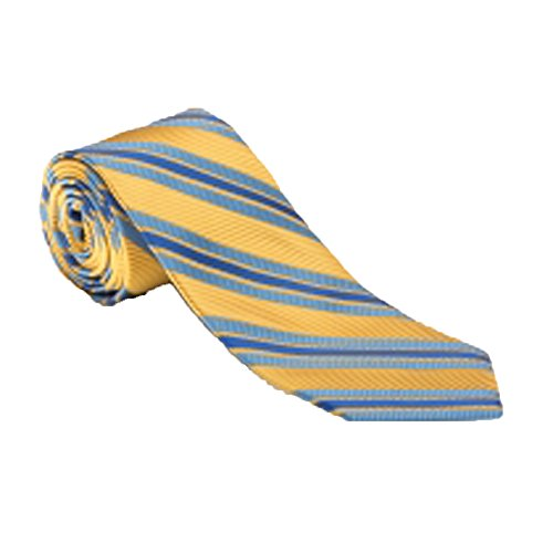 Robert Talbott Yellow with Blue Stripes Heritage Best of Class Tie ()