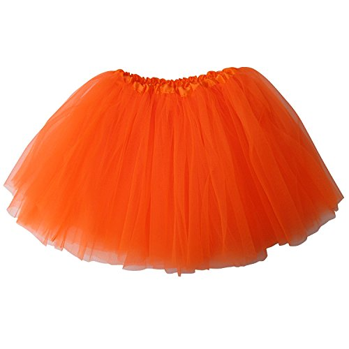 Ballerina-Basic-Girls-Dance-Dress-Up-Princess-Fairy-Costume-Dance-Recital-Tutu-Orange