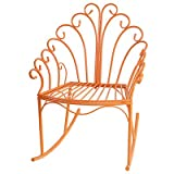 Wire Child's Rocking Chair Orange