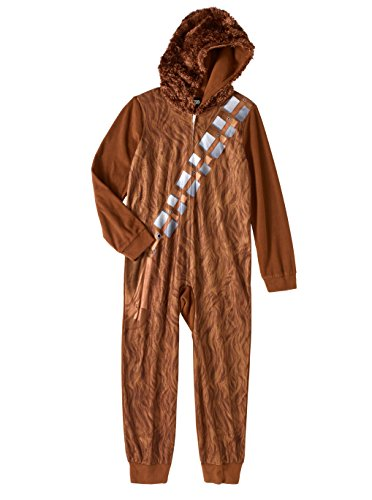 Boys Star Wars Chewbacca Hooded Sleeper Pajama (Medium 8)