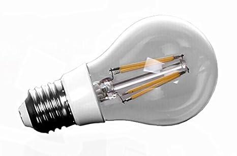 a19 led filament bulb edison style 8w to replace 100w bulb soft white 2700k