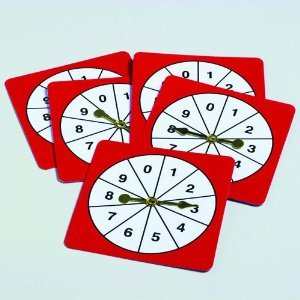Didax Educational Resources 0-9 Number Spinners (5 (Game Spinner)