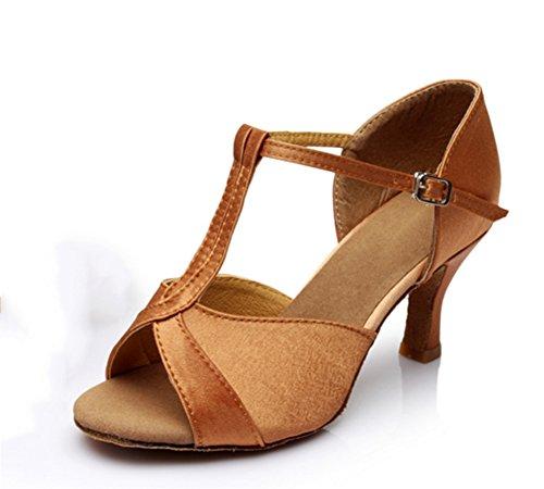 Joker à Danse XW chaussures WX danse latine 34 latine danse brown Élégantes porter Confortable bas Mode de de 40 talons Chaussures chaussures 6zCw6OW4q