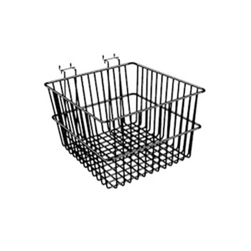 Lot of 6 - New Chrome - 12''W x 12''D x 8''H - Multi Basket - Fits Slatwall, Gridwall, Pegboard, or Slatgrid by Only Garment Racks