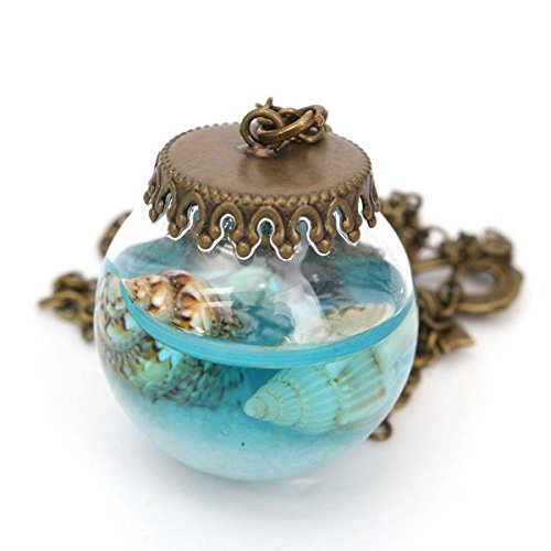 ocean-sea-current-bottle-starfish-shell-glass-cover-pendant-necklace