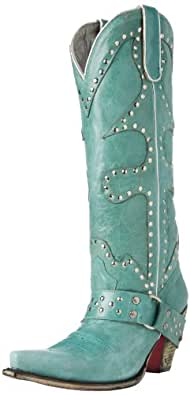 Lauren Jones Women's Trigger Knee-High Boot,Blue,5 M US
