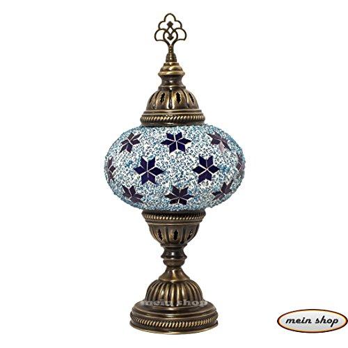 Table Fabriquée Main De À Bleu La Mosaïque Lampe ZuXPkiTwO