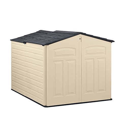 Rubbermaid Outdoor Slide-Lid Storage Shed, 96 cu. ft., Olive/Sandstone (1800005) (Outdoor Yard Storage Shed)