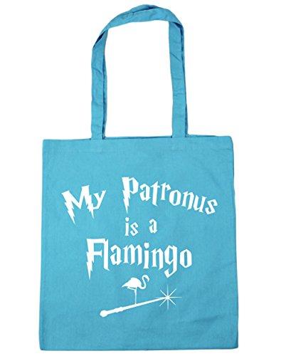 Hippowarehouse My Patronus È Una Borsa Da Spiaggia Fenicottero Shopping Bag Da Spiaggia 42cm X38cm, 10 Litri - Surf Blu, Taglia Unica
