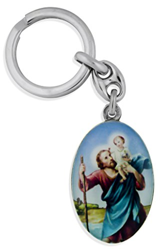 Saint Key Chain with 1 3/4' Fob by Venerare (Saint Christopher)
