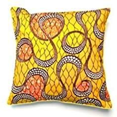 NKaylockstore African Wax Print Pillow Cover VV-390 Linen De