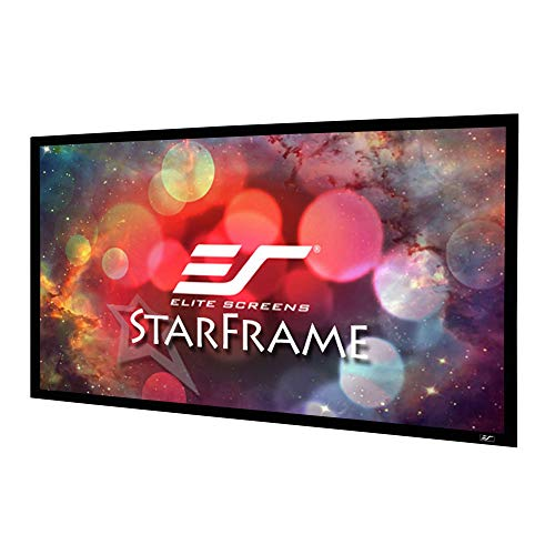 - Elite Screens Star Frame Series, 120-INCH 16:9, Fixed Frame Home Movie Theater Projector/Projection Screen, 8K / 4K Ultra HD 3D Ready
