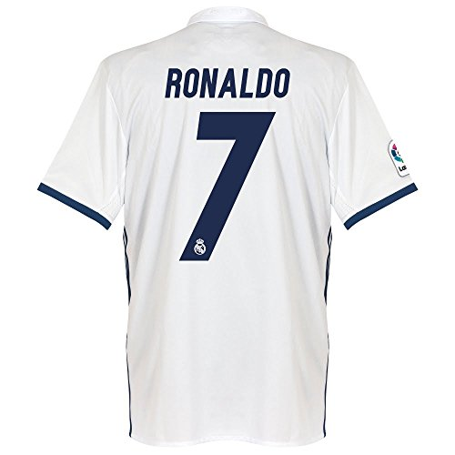 Adult Soccer Jersey Officials - Real Madrid Home Ronaldo Jersey 2016 / 2017 (Official Printing) - L
