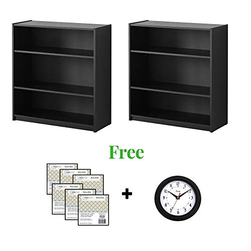 """ORION` Shelf Bookcase Perfect for Displaying Your Books and More (31""""(2 Pack), Black)"""