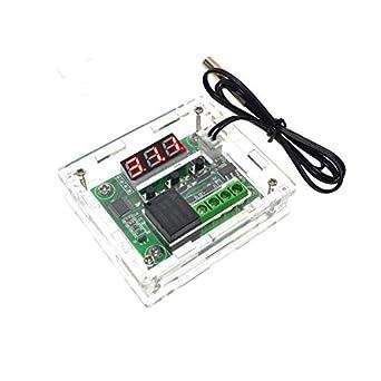 icstation W1209 DC 12 V Digital termostato frío calor interruptor de control de temperatura con carcasa