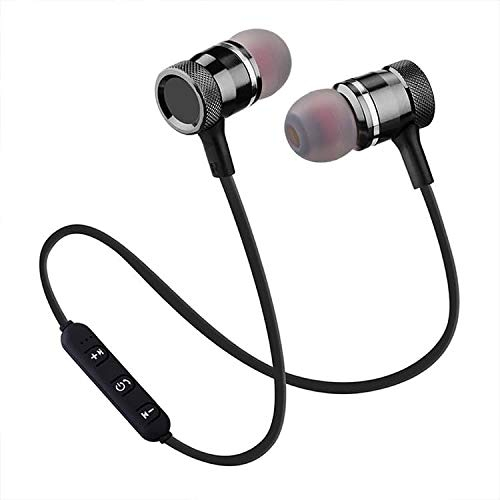 Wireless Earbuds 5.0 (2019) Bluetooth Headphones Magnetic Sport in-Ear Sweatproof Earphones with Mic (Super Sound Quality, Bluetooth 4.1, 8 Hours Play Time, Secure Fit Designed in New York (Black) Black Super Bass Earbuds