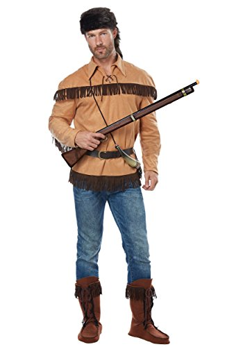 California Costumes Men's Frontier Man-Davy Crockett-Adult Costume, Tan, X-Large -