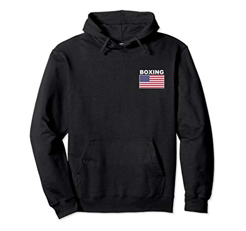 USA Flag Boxing Hoodie Pocket Boxer Training Jacket Gift Top