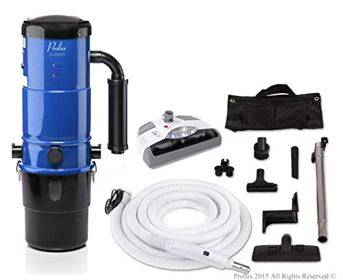 Vacuum System Central - Prolux CV12000 Central Vacuum Unit System with White Electric Hose Power Nozzle Kit and 25 Year Warranty …