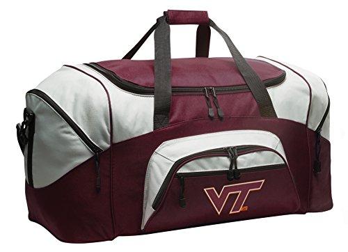 Large Virginia Tech Gym Bag Deluxe Virginia Tech Hokies Duffle Bag by Broad Bay