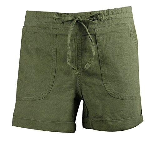 Mysocks® Ropa de playa Selección de trajes de baño, sandalias, sombreros, bolsos y ropa Pantalones cortos de verano de lino Caqui