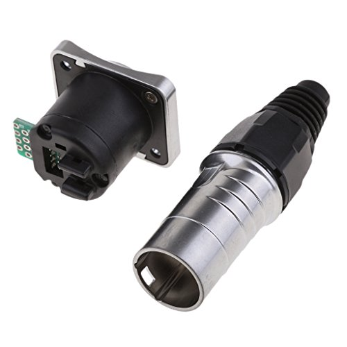 Baoblaze RJ45 Waterproof Connector, Internet Cable Connector, Panel Mount Connector, IP65:
