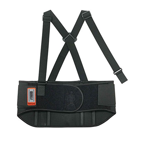 Ergodyne - 1600 4XL Black Standard Elastic Back Support (Elastic Belt Back Standard)