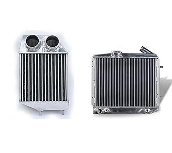 Supeedmotor de aleación de aluminio radiador y Intercooler para 5 GT Turbo 1.4L: Amazon.es: Coche y moto