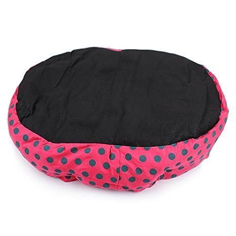 Hosaire mascotas Mat - perro y Gato caliente suave camas para mascotas Almohada Cama Cachorro Sofa Sofa Mat perrera Pad Tamano 36X30X10CM Color Rosa+Puntos ...