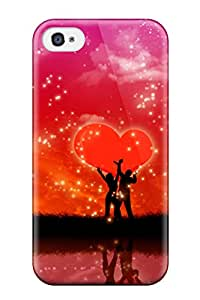 Durable Defender Case For Iphone 4/4s Tpu Cover(our Love)