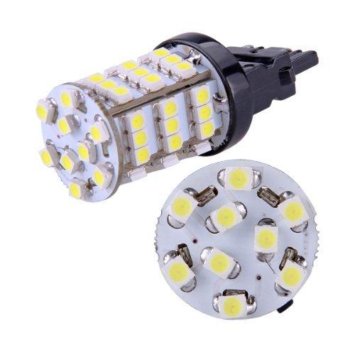 Sonline 2 White 3157 3757 4114 Car DRL Daytime Running 54 3528 SMD LED Light Lamp Bulb