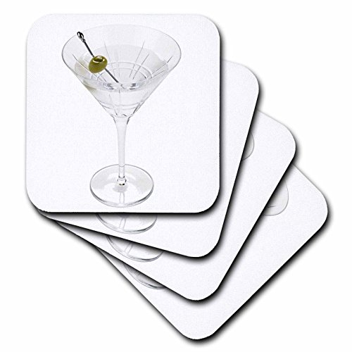 3dRose cst_4549_1 Martini-Soft Coasters, Set of 4
