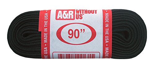 A&R Sports Figure Skate Laces, Black, 72-Inch