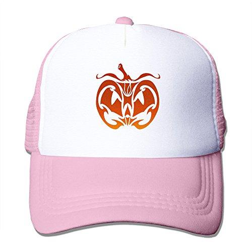 Pumpkin Face Unisex Adult Mesh Hat Trucker -