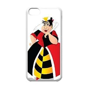 iphone5c White phone case Disney villains Queen of Hearts DSV2564484